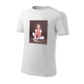 Bílé sublimační triko spotiskem A5
