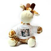 Plyšová žirafatrikem pro potisk